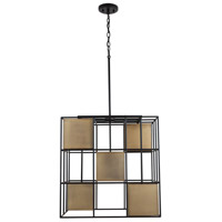 Capital Lighting 530951AB Paxton 5 Light 22 inch Aged Brass and Black Foyer Ceiling Light