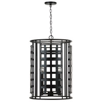 Capital Lighting 532241MB Garrison 4 Light 18 inch Matte Black Foyer Ceiling Light