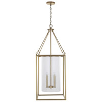 Capital Lighting 532841AD Signature 4 Light 16 inch Aged Brass Foyer Ceiling Light
