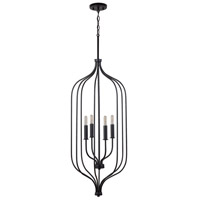 Capital Lighting 533241MB Nira 4 Light 16 inch Matte Black Foyer Ceiling Light