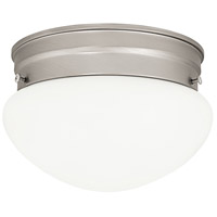Signature 1 Light 7 inch Matte Nickel Flush Mount Ceiling Light