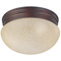 Capital Lighting Signature 1 Light Flush Mount in Burnished Bronze with Mist Scavo Glass 5376BB