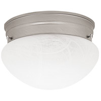 Capital Lighting Signature 1 Light Flush Mount in Matte Nickel 5676MN