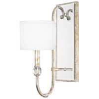 Charleston 1 Light 6 inch Silver and Gold Leaf Sconce Wall Light