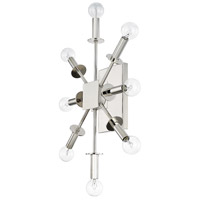 City 8 Light 15 inch Polished Nickel Wall Sconce Ceiling Light