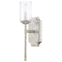 Oxford 1 Light 5 inch Silver Patina Sconce Wall Light