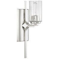 Manhattan 1 Light 5 inch Polished Nickel Sconce Wall Light