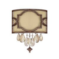 Capital Lighting Luciana 2 Light Sconce in Bronze with Gold Dust with Crystals 6312BD-528-CR