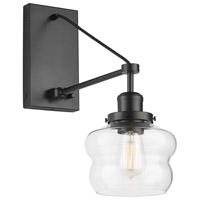 Capital Lighting 634813MB-481 Signature 1 Light 7 inch Matte Black Sconce Wall Light