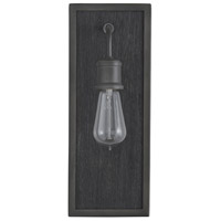 Capital Lighting 635812CI Ashton 1 Light 6 inch Carbon Grey and Grey Iron Sconce Wall Light