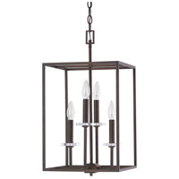 Capital Lighting Morgan 4 Light Foyer in Burnished Bronze with K9 Crystal 7001BB