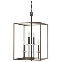 Capital Lighting Morgan 4 Light Foyer in Burnished Bronze with K9 Crystal 7002BB