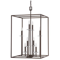 Capital Lighting Morgan 8 Light Foyer in Burnished Bronze with K9 Crystal 7003BB
