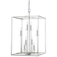 Capital Lighting Morgan 8 Light Foyer in Polished Nickel with K9 Crystal 7003PN