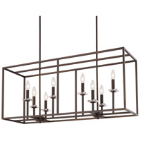 Capital Lighting Morgan 8 Light Island in Burnished Bronze 7004BB