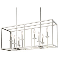 Morgan 8 Light 40 inch Polished Nickel Island Ceiling Light