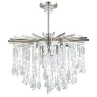 Capital Lighting 7023PN-CR Carrington 6 Light 23 inch Polished Nickel Chandelier Ceiling Light