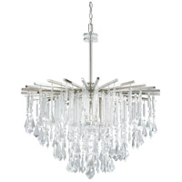 Capital Lighting 7025PN-CR Carrington 6 Light 30 inch Polished Nickel Chandelier Ceiling Light