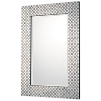Signature 35 X 23 inch Embossed Metallic Wall Mirror Home Decor