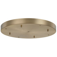 Signature Aged Brass Canopy, 5 Port