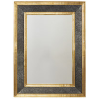 Capital Lighting 734004MM Signature 36 X 27 inch Galvanized Black and True Brass Wall Mirror