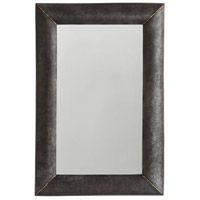 Capital Lighting 735402MM Signature 36 X 24 inch Galvanized Black and True Brass Wall Mirror
