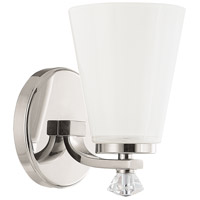 Capital Lighting Alisa 1 Light Sconce in Polished Nickel 8021PN-127