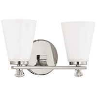 Alisa 2 Light 14 inch Polished Nickel Vanity Wall Light