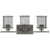 Capital Lighting Carson 3 Light Vanity in Graphite with Clear Glass 8033GR
