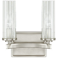 Capital Lighting Emery 2 Light Vanity in Brushed Nickel with Clear Glass 8042BN-150