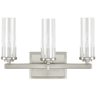 Capital Lighting Emery 3 Light Vanity in Brushed Nickel with Clear Glass 8043BN-150
