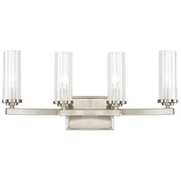 Capital Lighting Emery 4 Light Vanity in Brushed Nickel with Clear Glass 8044BN-150
