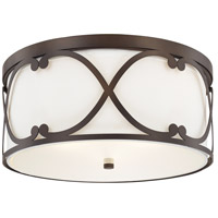 Alexander 3 Light 16 inch Burnished Bronze Flush Mount Ceiling Light
