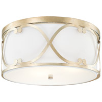 Alexander 3 Light 16 inch Winter Gold Flush Mount Ceiling Light