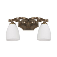 Capital Lighting Harrison 2 Light Vanity in Mottled Brown with Misty White Glass 8092MT-217