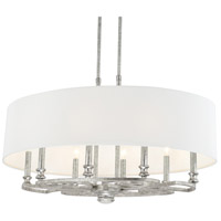 Capital Lighting Corrigan 8 Light Pendant in Antique Silver 810981AS-650