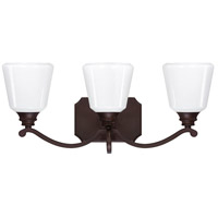 Capital Lighting Leigh 3 Light Vanity in Burnished Bronze with Cased Opal Glass 8113BB-300