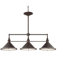 Langley 3 Light 44 inch Burnished Bronze Island Light Ceiling Light