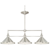 Langley 3 Light 44 inch Brushed Nickel Island Ceiling Light