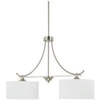HomePlace 2 Light 36 inch Brushed Nickel Island Light Ceiling Light