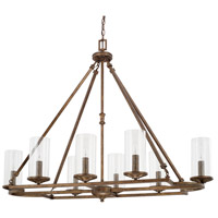 Avanti 8 Light 46 inch Rustic Chandelier Ceiling Light