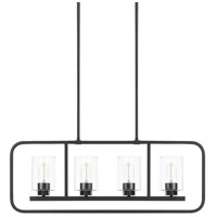 HomePlace 4 Light 32 inch Matte Black Island Light Ceiling Light