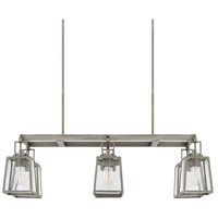 Kenner 6 Light 40 inch Antique Nickel Island Ceiling Light