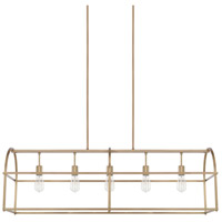 Homeplace 5 Light 46 inch Aged Brass Island Ceiling Light