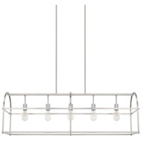 Homeplace 5 Light 46 inch Brushed Nickel Island Ceiling Light