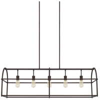 Homeplace 5 Light 46 inch Bronze Island Ceiling Light