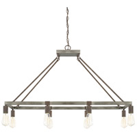 Zac 8 Light 40 inch Urban Grey Island Ceiling Light