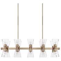 Lyra 20 Light 46 inch Aged Brass Island Ceiling Light