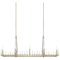 Adira 8 Light 48 inch Winter Gold Island Ceiling Light