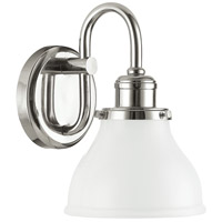 Capital Lighting Baxter 1 Light Sconce in Polished Nickel 8301PN-128